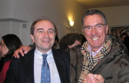 avec Raoul Delamare (à gauche de la photo)
